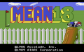 Mean 18 Ultimate Golf - Atari 7800